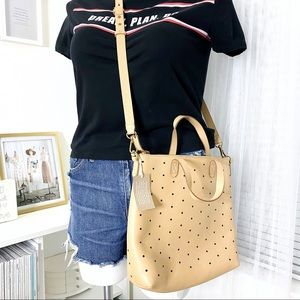 Madewell Mini Transport Perforated Leather Bag NWT
